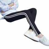 Gambar Detail Barang Hequ Women Fashion Stripe Training Sports Yoga Pants Leggings Elastic Gym Fitness Workout Running Tights Black - intl Terbaru