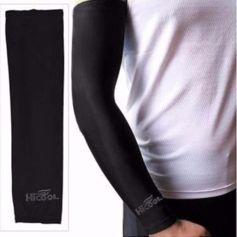 Hi Cool Arm UV Protection Cover Sarung Pelindung Lengan Anti Panas Outdoor Adventure Motor s0325 - Black