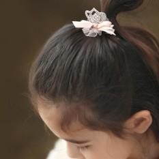 High Quality Astar Baby Girls Mesh Bowknot Crown Pattern Hair Side Clip Hairpins Hair Accessories(Neutral) - intl