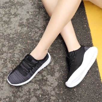 High quality fashion fly weave breathable Women sports shoesrunning shoes casual sneakers(black) - intl - 4