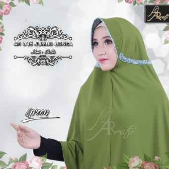 harga hijab instan Arrafi Talita Jumbo B (warna Green) Ar45J jilbab kerudung syari jumbo bergo khimar Lazada.co.id