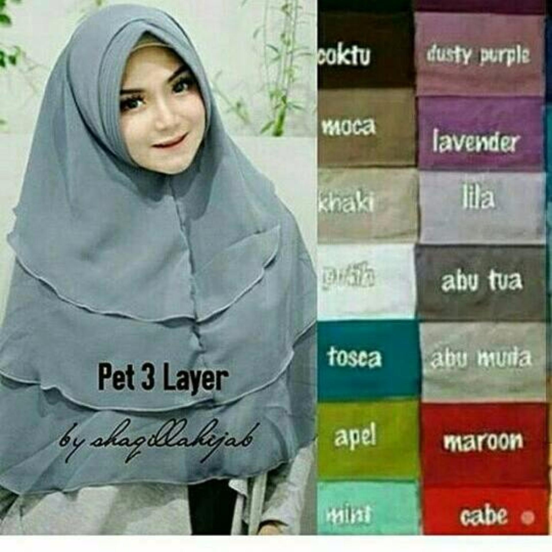 Hijab Instan Pita Pet Daftar Update Harga Terbaru Indonesia Jilbab Depan Flash Sale 3 Layers