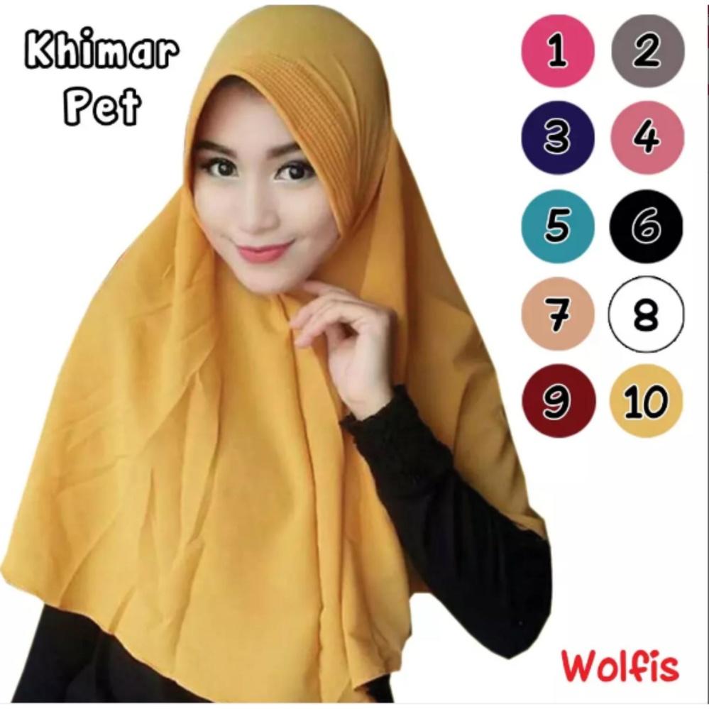 Hijab Khimar Simpel Pet Jilbab Instan Khimar Pet Hijab KhimarWolfis Hijab Store .