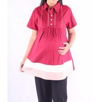HMILL Baju Hamil Blus Hamil Kerja 1452 - Merah