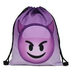Hot Fashion Men's Women's Print Shoulder Folding Drawstring String Bag Backpack School Rucksack Gym Sport Handbag 15