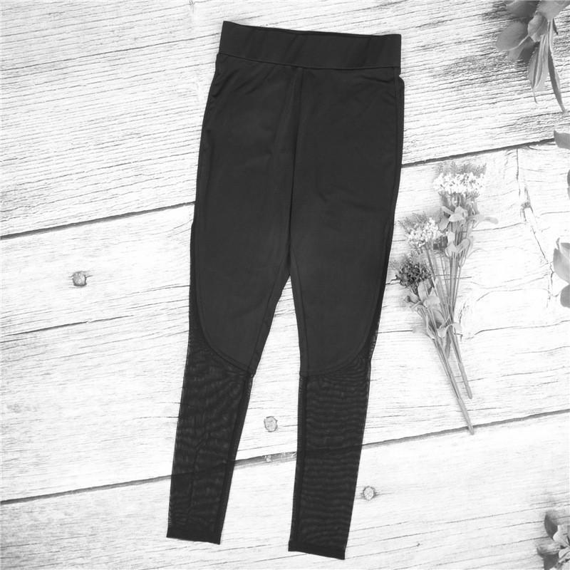 ... Hot Fashion Workout Training High Waist Mesh Leggings RunningSporty Style Fitness Women Sport Slim Women Yoga ...