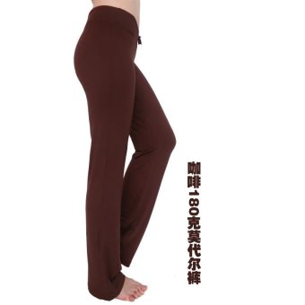 Hot Sales Moonar Women Yoga Pant Ladies Gym Fitness Dancing RunningPant Soft Trouser - Brown - intl