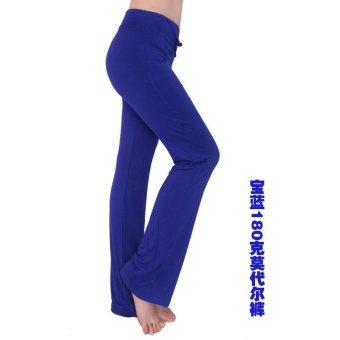 Hot Sales Moonar Women Yoga Pant Ladies Gym Fitness Dancing RunningPant Soft Trouser - Purple - intl - 2