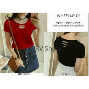 HRV Shop Blouse Wanita Neci - Maroon   Blouse Cewek   Baju Jalan   Atasan  Wanita c9862ae135
