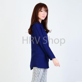 HRV Shop Tunik Wanita Shinta - Navy - 4 .