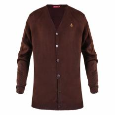 HUSH PUPPIES MENS SWEATERS SEEDS MH10517BR BROWN