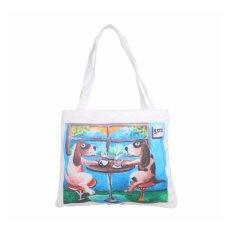 Hush Puppies Tas Tote Bag Canvas Wanita Aiden Nathan Haryono - Beige