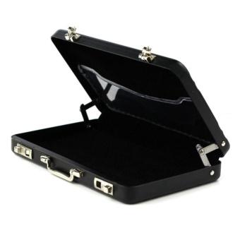 iBelieve Mini Aluminum Suitcase Shaped Business Card Holder BoxBlack - intl - 3