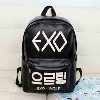 Harga Japan and South Korea version of the new version of the backpack bag exo bag bag PU bag - intl