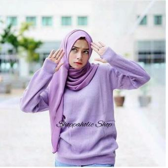 Harga Shoppaholic Shop Sweater Lavender