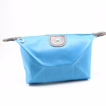 Tas Dompet Kosmetik Alat Make Up - Biru Muda