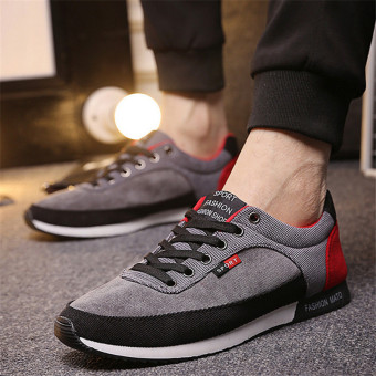 Harga 2016 Men Casual Shoes Fashion Canvas Flats Breathable Running Shoes