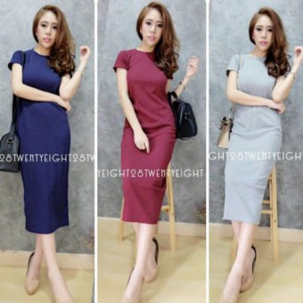 Harga davecollection - dress katnis - maroon