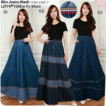 ... 168 Collection Rok Maxi Ayala Jeans Long Skirt 01