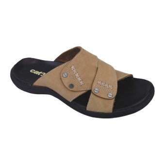 Harga Catenzo Sandal Casual Kulit Pria - Men's Sandal Fashion - Cream