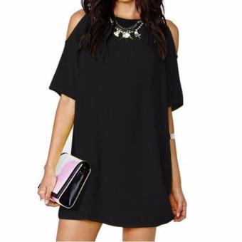 Cari Harga Ashiqeen 868126 Blouse Berlapis Chiffon Online Database Source · Women Mini Dress Dew Shoulder