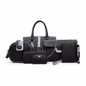 Harga Tas Fashion Branded Import 84554(6in1) Hitam