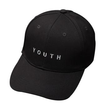 HengSong katun wanita muda surat tutup topi bisbol hitam - International