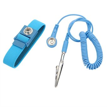 Harga 2PCS Anti-static Antistatic Wrist Band Wristband Grounding ESD Strap Bracelet - intl