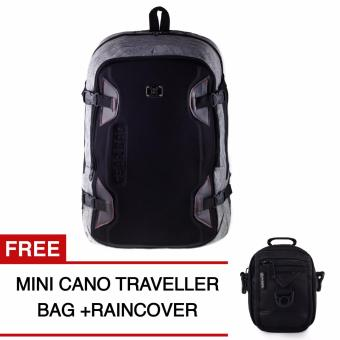 Harga Gear Bag Backpack - Light Grey + Raincover + FREE Mini Cano Traveller