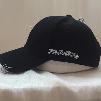 HengSong Unisex Fashion wanita Jepang trisiklik Solid tandai tutup topi bisbol hitam - International