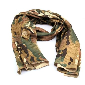 Harga Army Scarf Lightweight Soft Camouflage Military Scarf - intl