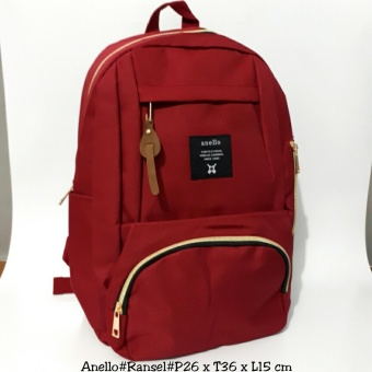 Harga Ransel Anello Premium Courdura Backpack Red