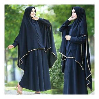 Dapatkan Gamis Pakaian Wanita Muslimah Armenia Syari Hitam Maxi Source · Gamis Syar i Zulfa Hitam