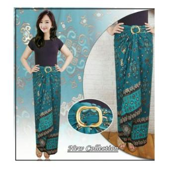 SB Collection Rok Lilit Batik Tata Long Skirt-Hijau