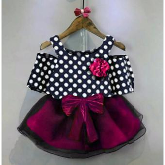 MJ Dress Anak Kiddy Kids Polka - Hitam