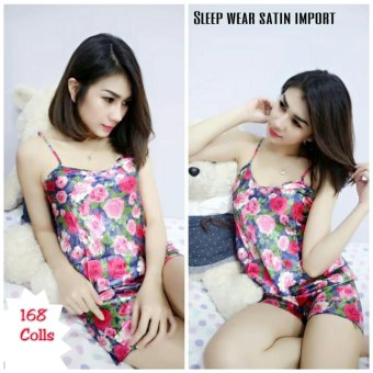 168 Collection Stelan Baju Tidur Princess Night Atasan Celana-Multicolor