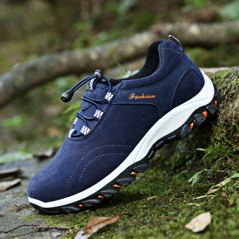 ... Mens Durable Hiking Shoes Mountain Climbling Shoes Super Breathable Trekking Shoes Outdoor Spors Shoes Blue