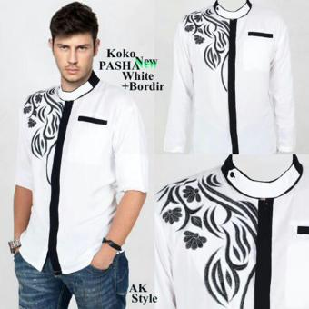 Harga AK-201 Pasha White +bordir Akiko Fashion