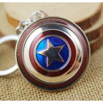 1pcs Movie Key Chain Rotate Captain America Shield Keychain Men Gift Key Chain Key Holder -