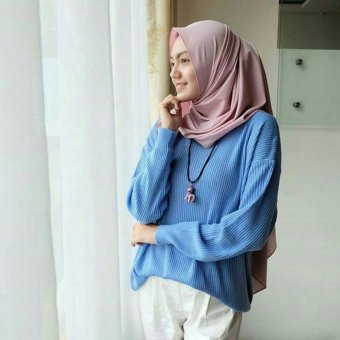 Harga DoubleC Fashion Sweater boxi blue
