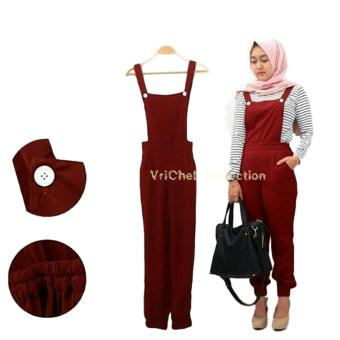 Harga Vrichel Collection Jumpsuit Ucy (Maroon)