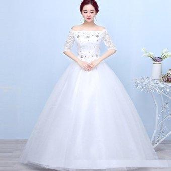1703004 Gaun Pengantin Putih Wedding Gown Wedding Dress .