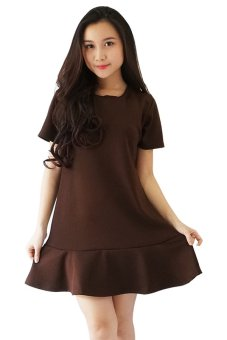 Harga QuincyLabel Flare Dress - Brown