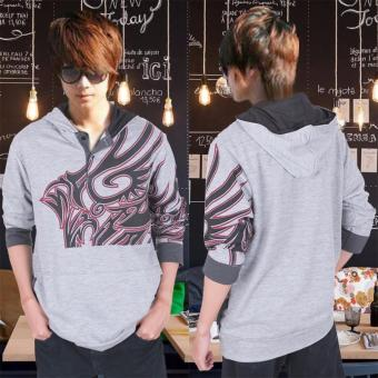 Harga AK - Sweater Hugos Tattoo - grey Akiko fashion