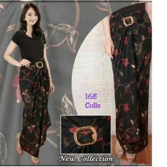 168 Collection Rok Maxi Lilit Cool Black Batik-Hitam
