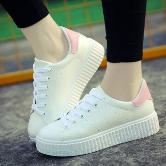 Harga South Korea 's small soft white shoes at the end of flat shoes shoes - intl