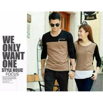Harga couple store cs - kaos pasangan zipper coksu