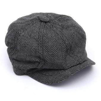 Pria wanita kasual koran Gatsby Ivy topi golf Topi Olahraga Rekreasi Wisata Abu .