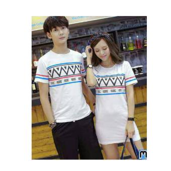 Harga couple store cs - kaos pasangan dress fashion zig zag