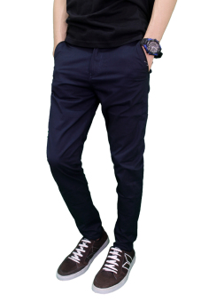 Harga Gudang Fashion - Chino Long Pants - Biru Dongker